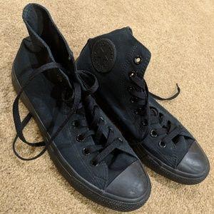 All Black Converse Shoes fits mens 9.5-10